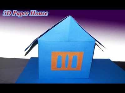 3D Paper House Children's Craft Origami