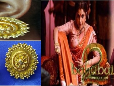 BAAHUBALI 2 SIVAGAMI DEVI INSPIRED DIY EARRINGS