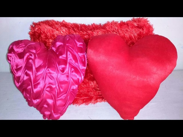 Cushion cover making DIY | how to make heart shaped cushion cover at home