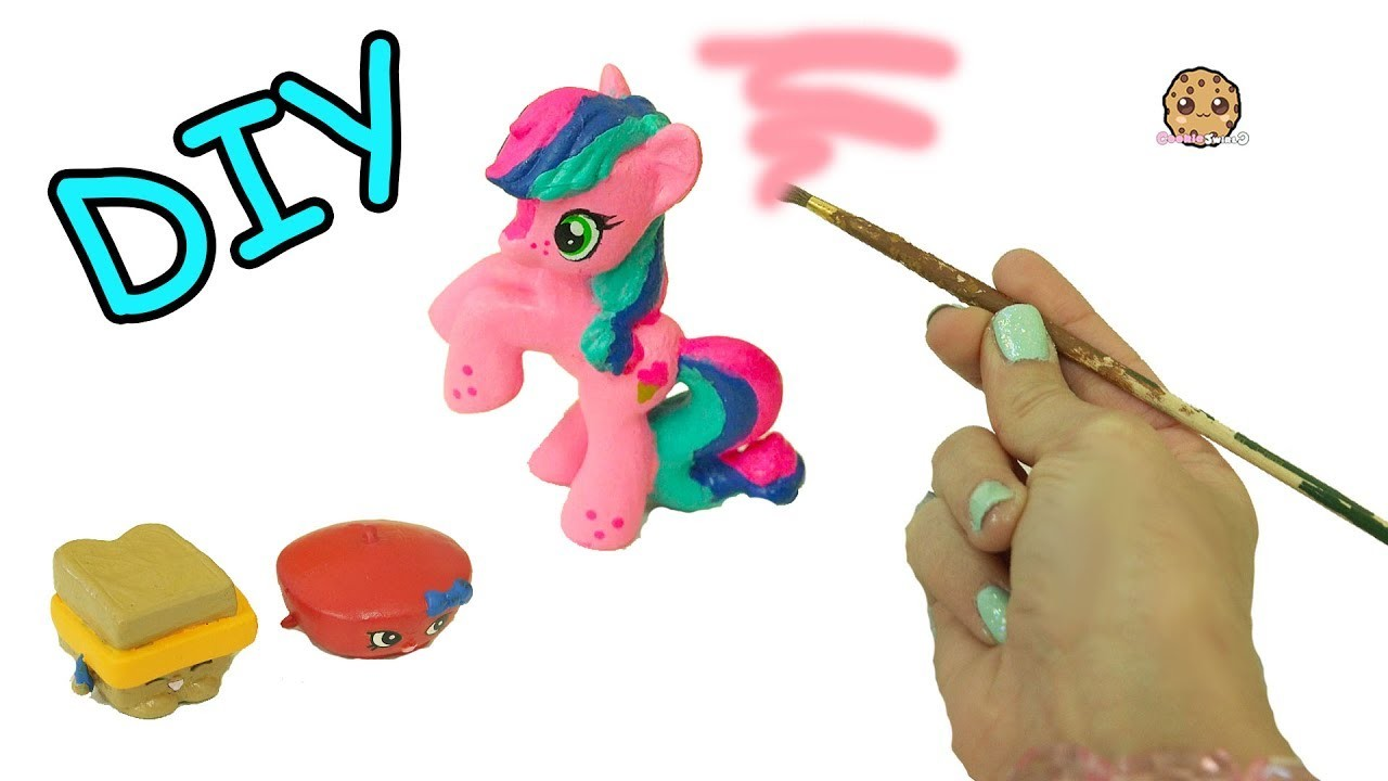 Custom Painting My Little Pony + Shopkins With Acrylic Paint - DIY Craft Video