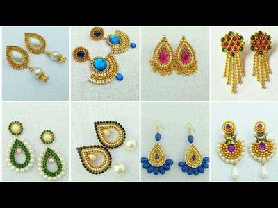 Designer Earrings. Silk Thread Earrings Collection. Paper Jewelry. DIY. Latest Jewelry