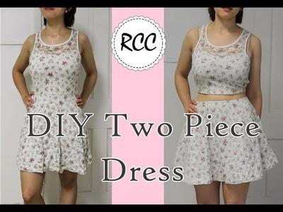 DIY 2 piece modified dress - Rachel's Craft Channel