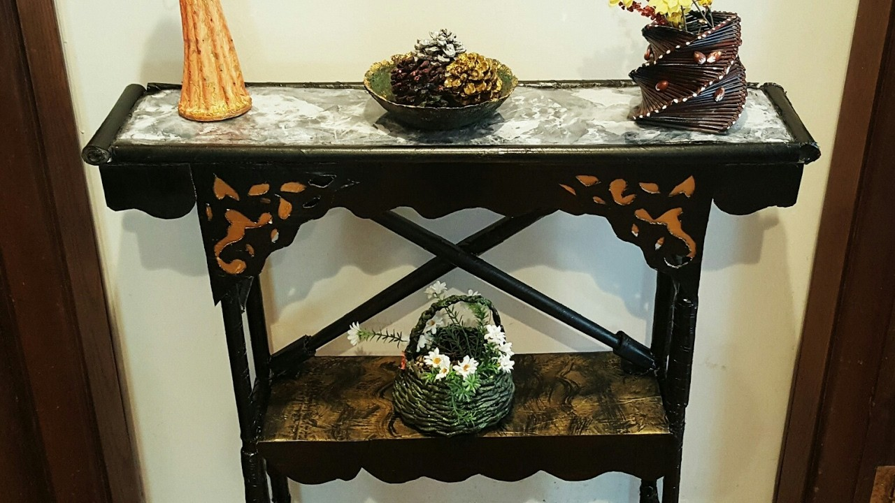 Diy Cardboard Furniture Cardboard Table Shelf Tutorial My Crafts And Diy Projects