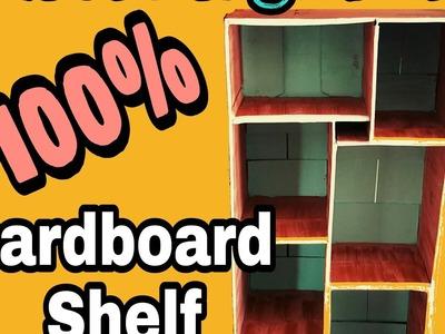 DIY CARDBOARD SHELF. CLOSET ORGANIZER SHELF TUTORIAL