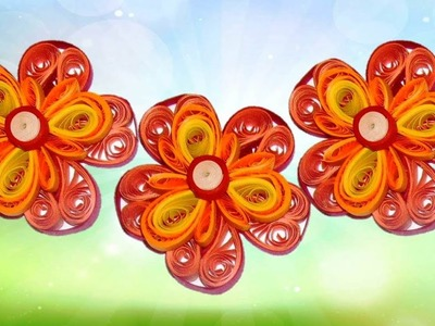 DIY: Craft Ideas-How to make Quilling Flower -Paper Art Quilling Made Easy