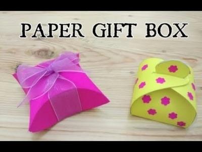 DIY craft : Paper GIFT BOX (Easy) - Vera Craft