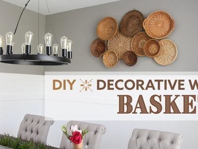 DIY Decorative Wall Baskets   Mural de Cestas