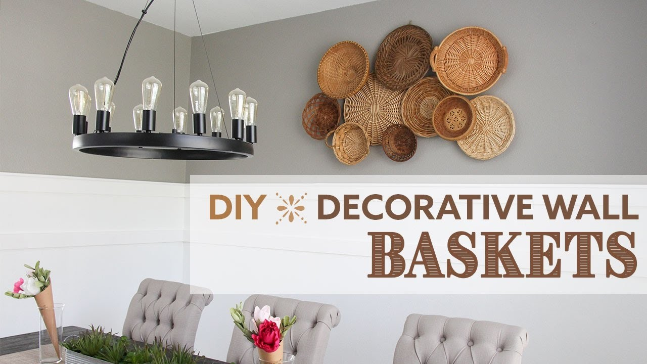 Diy decorative wall baskets mural de cestas for Diy wall photo mural