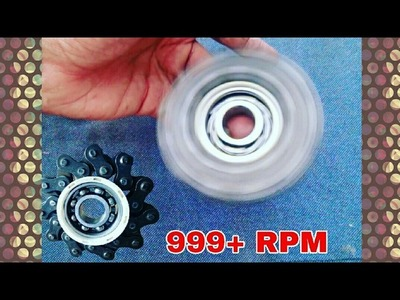 DIY Fidget Spinner from Bike Chain -  Bike Chain Fidget Spinner in Just 100 Second