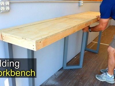 DIY Folding Workbench - How To - shipping container shop