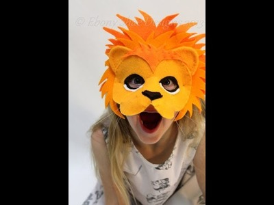DIY How to make a lion mask for kids