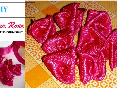 DIY | How to make Ribbon Rose without Sewing and Glue | Easy Step - by - Step Tutorial