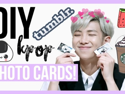 DIY KPOP Photocards! Affordable and Easy! EXO, BTS and More! | Hunnie Bunnie ♡♡♡