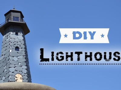 DIY Lighthouse | How To Make Lighthouse Of Cardboard And Solar Garden Light