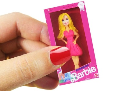 DIY | MINIATURE BARBIE DOLL - SUPER EASY FOR KIDS