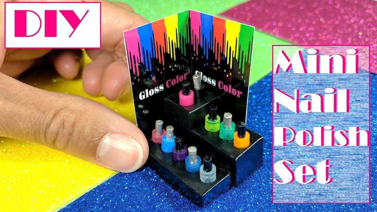 DIY Miniature Doll Nail Polish Set