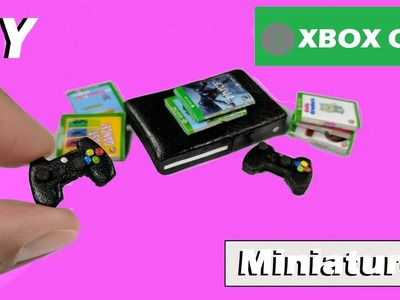 DIY Miniature Doll Xbox One  - Video Game Console - How to Make