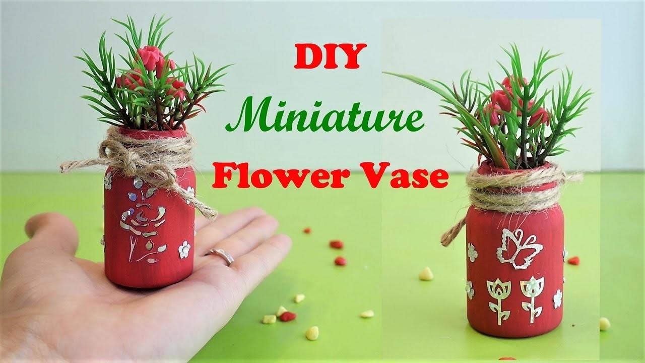 DIY Miniature Flower Vase   Cute Desk Decoration Craft Ideas