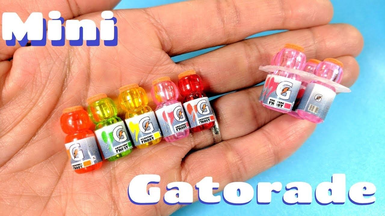 DIY Miniature Gatorade Bottles -  Sports Drink Packs