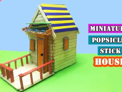 DIY Miniature Popsicle Stick House | Easy Craft Idea for Kids