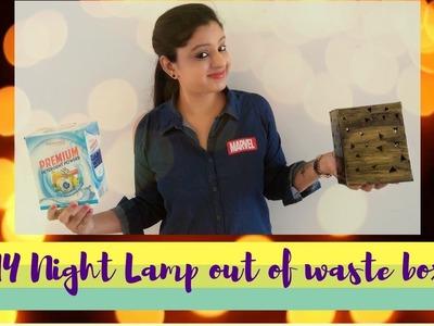 DIY : Night Lamp Out of Pantanjali Detergent BOX