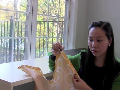 DIY No Sew Bench Cushion Seat. Window Seat Cushion without sewing