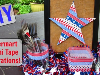 DIY:  Paper Mart Washi Tape Fourth of July Decorations!