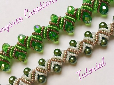 DIY pearl bracelet(zigzag embellishments)(Very clear Tutorial)