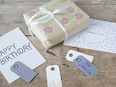 DIY : Personal decoration for gifts and cards by Søstrene Grene
