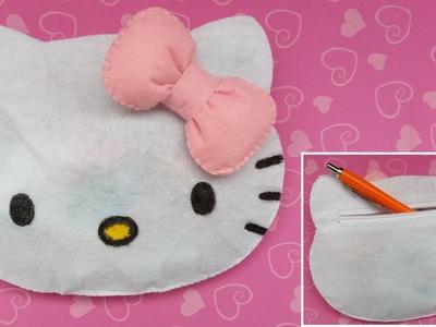 DIY Portfard Hello Kitty din Fetru