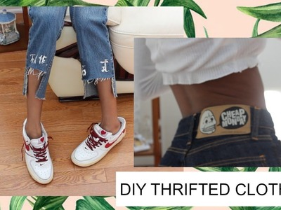 DIY's From Thrifted Clothing - trends you can find from thrifting