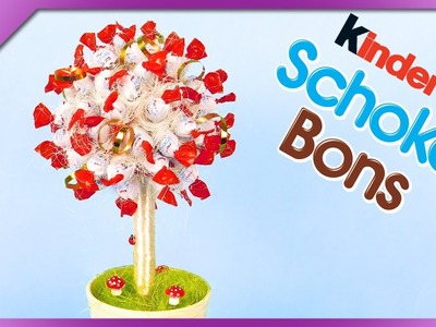 DIY Schoko-Bons candy tree for Children's Day, birthday (ENG Subtitles) - Speed up #359
