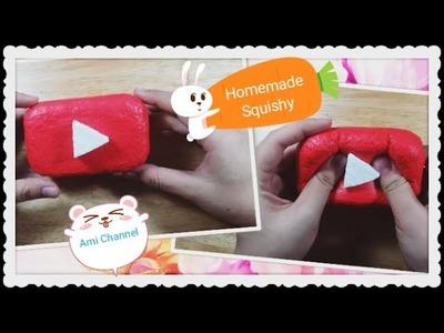 DIY Squishy Play Button. Làm squishy logo Youtube. Homemade Squishy tutorial