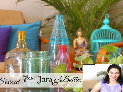 DIY Stained Glass Jars And Bottles
