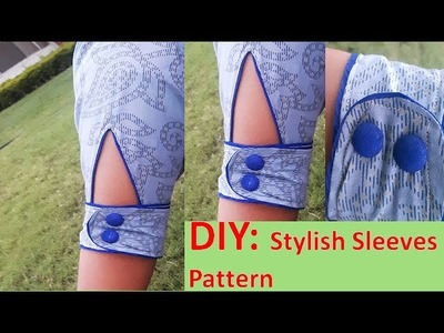 DIY: Stylish Sleeves Pattern For Kurties And Top Full Tutorial