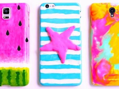 DIY SUMMER PHONE CASES | Watermelon, Starfish & Tie-dye