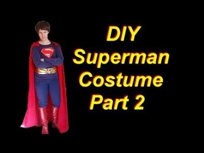 DIY Superman Costume Part 2: Pants and Belt
