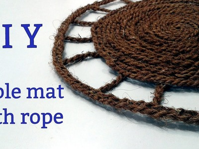 DIY Table mat with rope. Placemats with rope