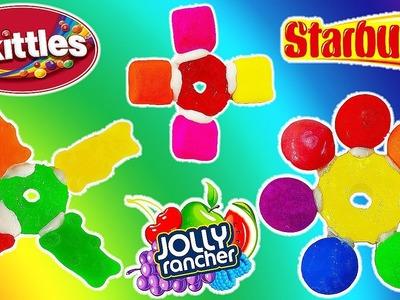 DIY TASTY EDIBLE Candy Fidget Spinner! Skittles, Jolly Ranchers, Starbursts! No Bearings! 1000mph?