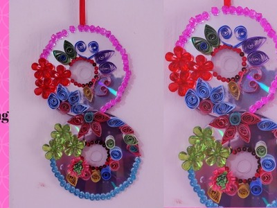 DIY - Waste CD craft ideas - How to Make Recycled CD'S Wall Hanging