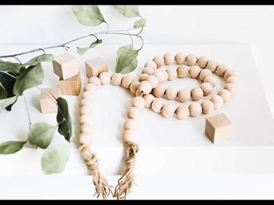 DIY Wooden Bead and Tassel Garland Tutorial