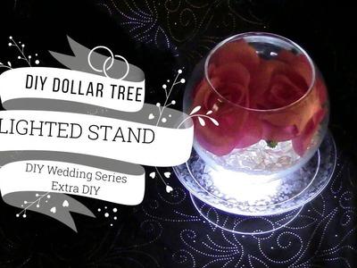 Dollar Tree DIY Lighted Wedding Table Stand DIY Wedding Series Extra DIY