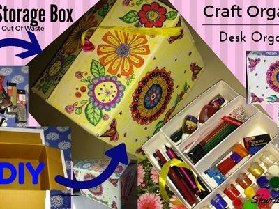 Easy DIY Craft Organizer | Desk Organizer | Craft storage Box | Best Out Of Waste