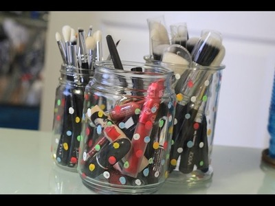 Easy DIY: From Candle Jar to Brush Holder