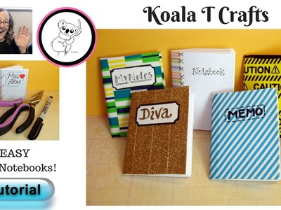 EASY DIY Mini Notebook TUTORIAL! Did I say easy?! How to persevere  through a project!!