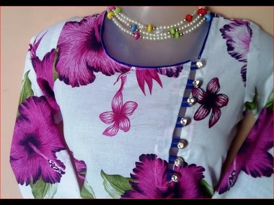 Famous and latest kurti neck design Short leg mid on DIY प्रसिद्ध और नवीनतम कुट्टी गर्दन डिजाइन