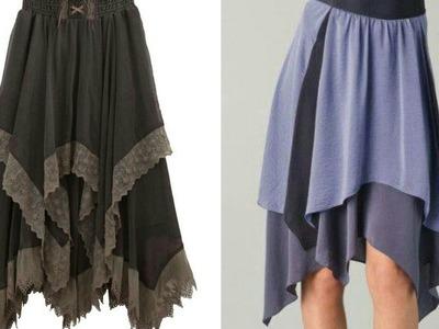 Hanky circle skirt DIY  How to make hanky cut circle skirt