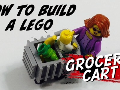 How to Build a LEGO Grocery Cart - DIY Tutorial to Create a Shopping Cart for your Supermarket!