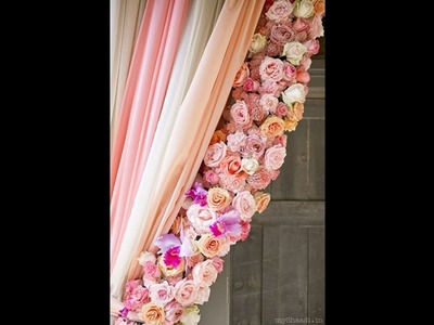How to DIY Flowers Trim Curtain (tutorial)
