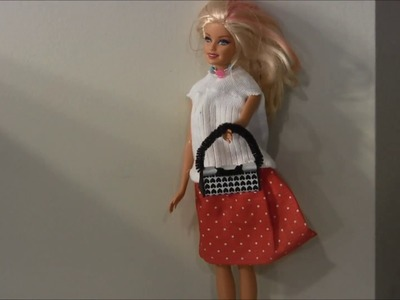 How to make a purse for Barbie Doll (Dollar Store Craft)